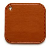 Blank leather brown label Royalty Free Stock Photography