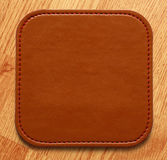 Blank leather brown label Royalty Free Stock Images