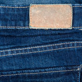 Blank leather jeans Stock Photography