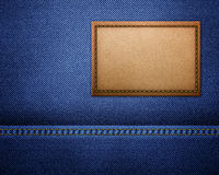 Blank leather jeans label Stock Images