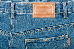 Blank leather jeans label Royalty Free Stock Image