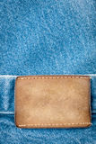 Blank leather jeans label Royalty Free Stock Photography
