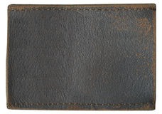 Blank leather jeans label Stock Photography
