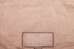 Blank leather jeans label Royalty Free Stock Photos