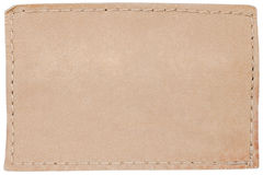 Blank leather jeans label on white Royalty Free Stock Photography