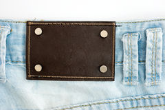 Blank leather label Royalty Free Stock Photography