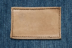 Blank leather label Royalty Free Stock Photo