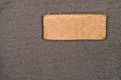 Blank Leather Label Tag Royalty Free Stock Photography