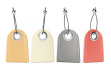 Blank leather tags Stock Photo