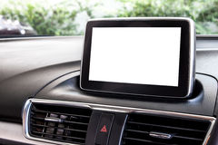 Blank LED screen of a new car Royalty Free Stock Photos