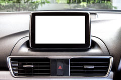 Blank LED screen of a new car 2 Stock Photo