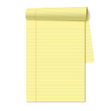 Blank legal pad. Vector illustration Stock Photography