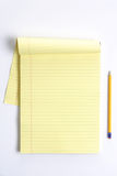Blank legal pad. With pencil on a clean desk Stock Image