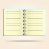 Blank legal pad. notebook yellowVector. Stock Photos