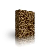 Blank leopard box template Royalty Free Stock Image