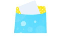 Blank letter envelope Stock Photos