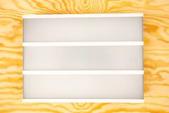 Blank Letter Light Box stock image