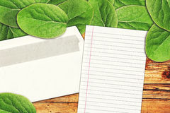 Blank letter paper and envelope Stock Photography