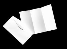 blank of letter paper and white envelope Royalty Free Stock Image