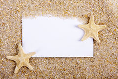 Blank letter in the sand Stock Photo