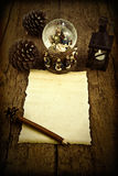 Blank letter to the Three Wise Men. Letter blank parchment to write Magi or compliment the Christmas Stock Image