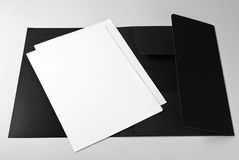 Blank letterheads and folder Royalty Free Stock Photo