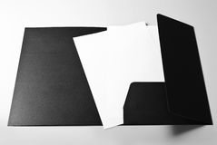Blank letterheads and folder Stock Image