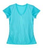 Blank light blue shirt. Royalty Free Stock Photography