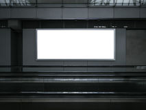 Blank Light Box Poster Billboard Banner Escalator indoor Royalty Free Stock Image
