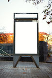 Blank lightbox on the city streets. Vertical Stock Photography