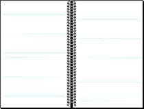 Blank lined notebook background Stock Image