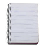 Blank lined notebook Royalty Free Stock Photos
