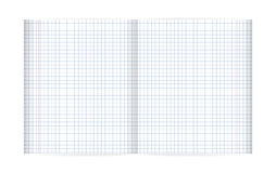 Blank lined notebook sheet (with diagonal lines and red margin) Stock Photos