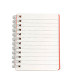 Blank lined notebook on white background Stock Photo