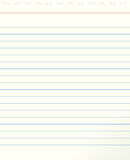 Blank lined paper Royalty Free Stock Photography