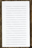 Blank lined paper Stock Photos