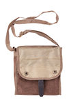 Blank linen bag with shoulder strap lies Stock Photography