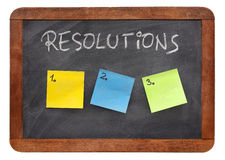 Blank list of resolutions Stock Image