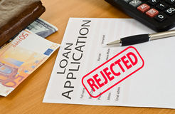 Blank loan application is on the table Royalty Free Stock Images