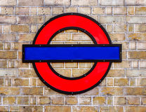 Free Blank London Underground Sign Royalty Free Stock Photos - 60631148