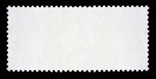 Blank long rectangular postage stamp Stock Photos