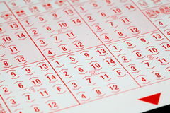 Blank lottery Royalty Free Stock Photos