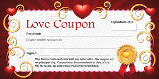 Blank Love Coupon Stock Images