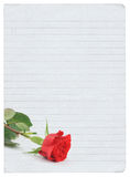 Blank love letter Royalty Free Stock Photography