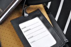 Blank luggage tag Stock Images