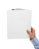 Blank magazine with copy space Stock Photo