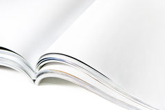Blank Magazine File with Open Pages. On White Royalty Free Stock Photography
