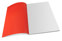 Blank magazine with open page. Open magazine with spreaded page Stock Image
