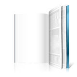Blank magazine page. Vector illustration of a blank magazine page. Insert your graphics Royalty Free Stock Images