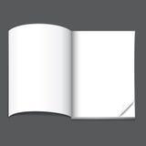 Blank magazine page Stock Image